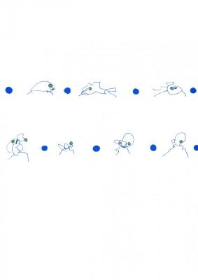 Blaue Tiere 1