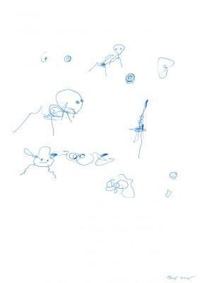 Blaue Tiere 3