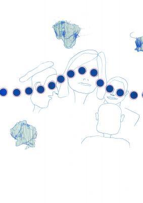 Blaue Scheiben 2