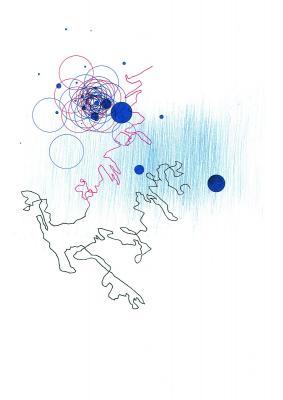 Blaue Scheiben 3