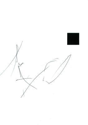 Gestik, schwarzes Quadrat