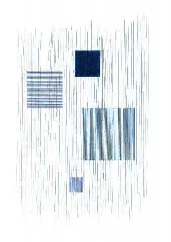 Blaues Quadrat